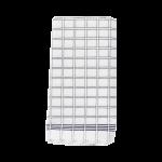 Theedoek wit geruit 65x65 cm