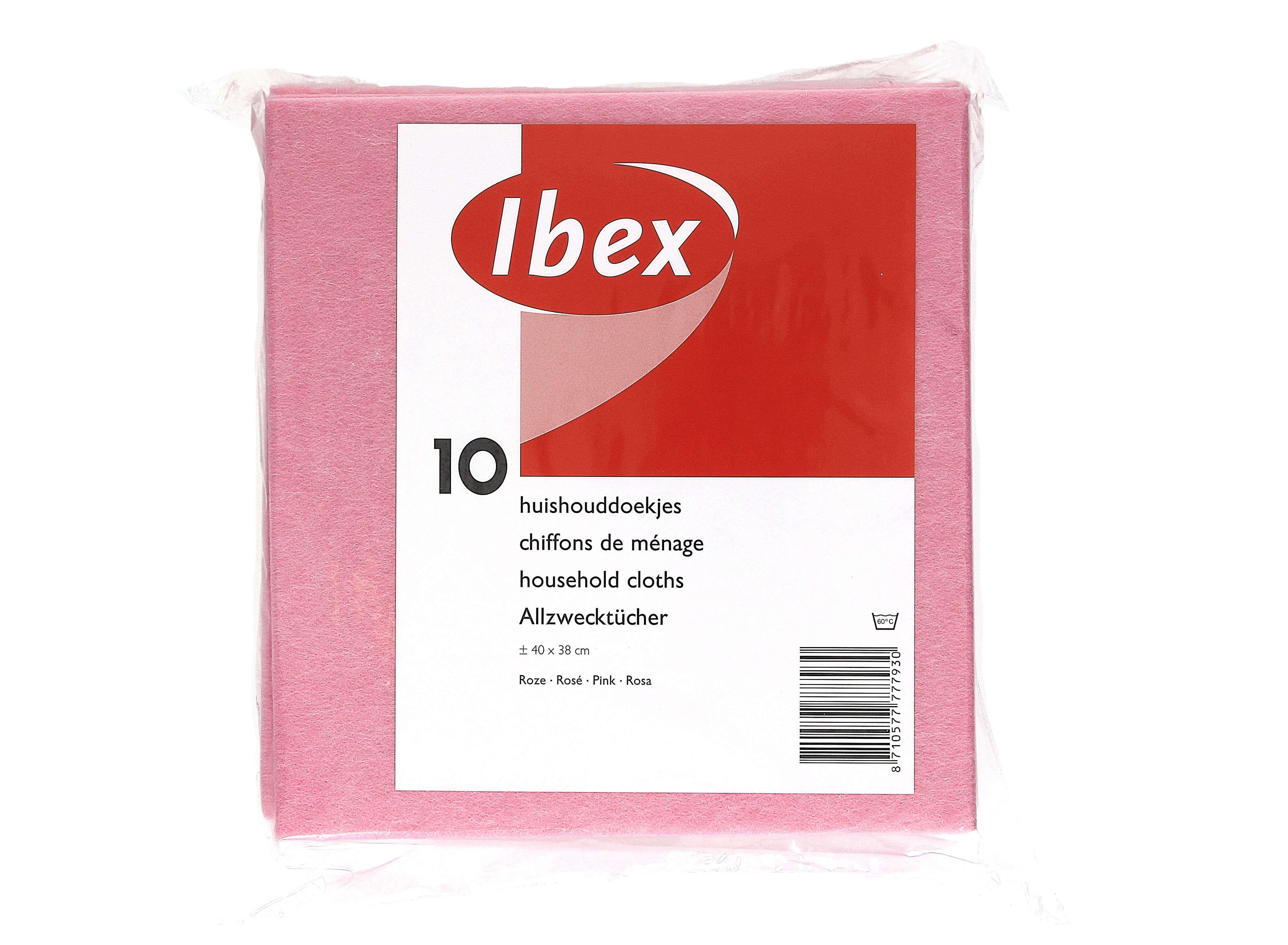 Huishouddoekjes roze viscose, 10 stuks