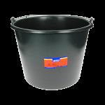 Bouwemmer zwart kunststof 12 L
