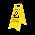 Veiligheidsbord geel 30x63 cm