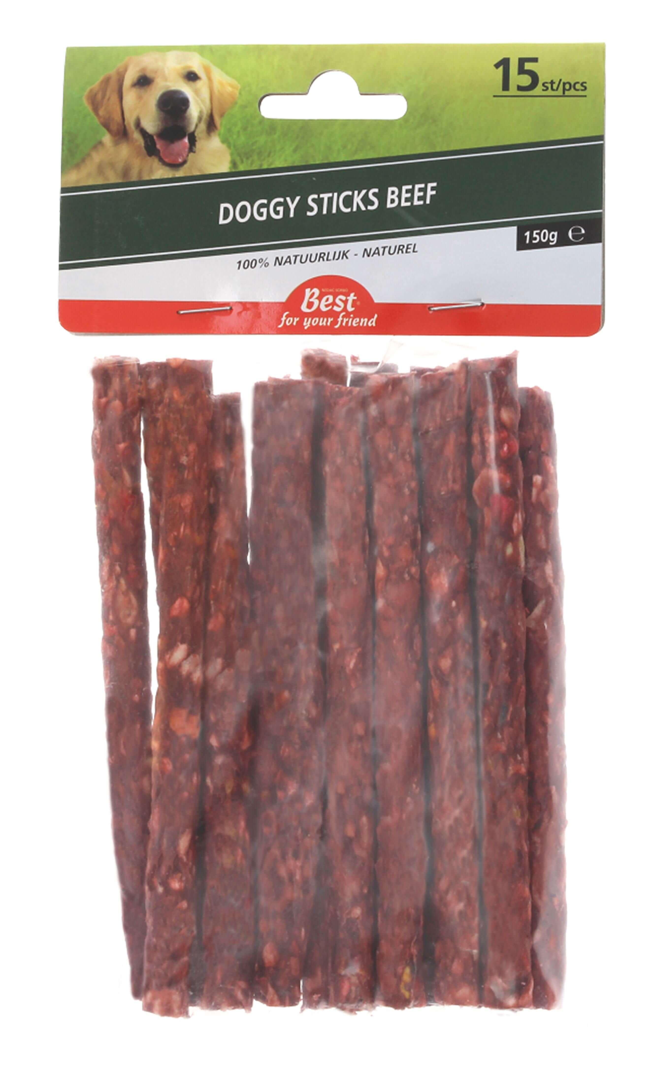 Doggy sticks met rund 15 stuks