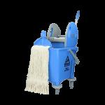Rolemmer kunststof blauw 25 L incl. wringer en dweilmop