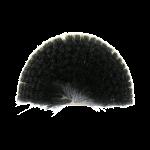 Ragebol zwart-witte kunstvezels 12 cm