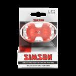 Achterlicht 5xLed rood incl. houder en batterijen