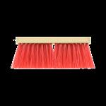 Bezem rood blanco hout kunstvezel 27,5 cm