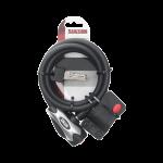 Spiraalslot zwart XL incl. 2 sleutels en bevestigingsdeel