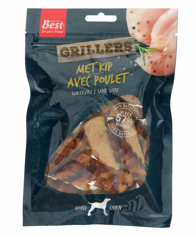 Grillers met kip, hondensnacks, 100 gram