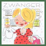 Wenskaart WK 1 Zwanger Blond