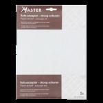 Schuurpapier Fijn korrel 280 wit 23x28 cm, 5 stuks